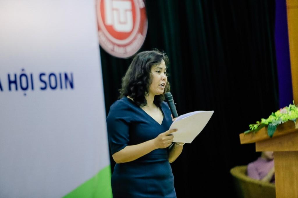 Bà Trương Thị Nam Thắng, Giám đốc Trung tâm Khởi nghiệp và Sáng tạo Xã hội, trường đại học Kinh Tế Quốc Dân, làm rõ điểm khác biệt giữa Sáng tạo xã hội và các khái niệm liên quan