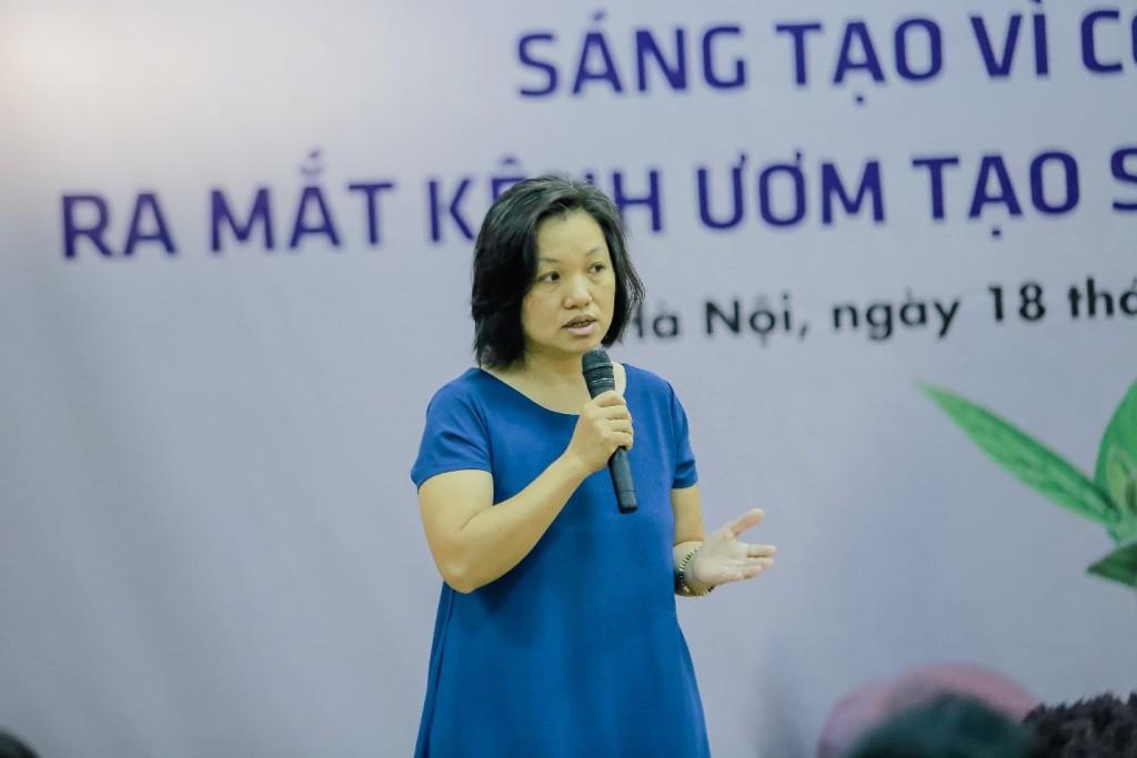 Bà Chế Phong Lan - người sáng lập doanh nghiệp xã hội Khác và Dao's care - chia sẻ về quá trình khởi nghiệp