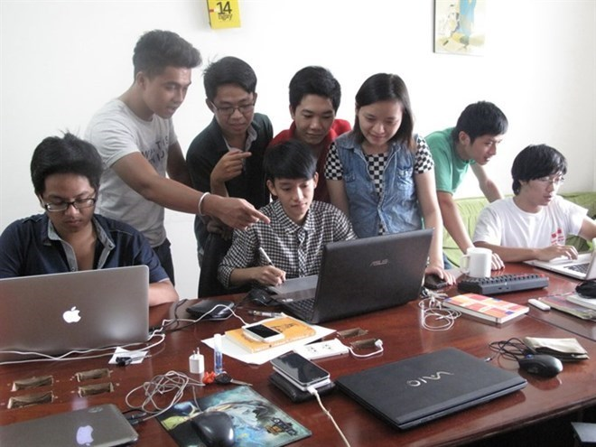 Staffers of Lozi, a start-up online food review community, at their office. Illustrative photo
