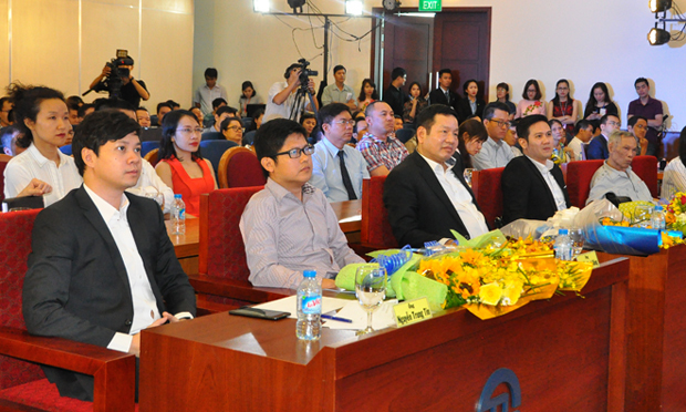 Buổi vinh danh Startup Việt 2016 có sự tham gia của 200 khách mời, gồm đại diện các đơn vị, dự án khởi nghiệp, quỹ đầu tư cùng nhiều doanh nghiệp.