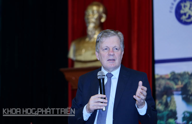 Cựu thủ tướng Phần Lan Asko Aho. Ảnh: Loan Lê
