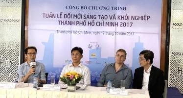 Đại diện Hatch! Ventures Việt Nam (đầu tiên bên trái) đang chia sẻ về hoạt động kết nối nhà đầu tư. Ảnh: Chí Thịnh.