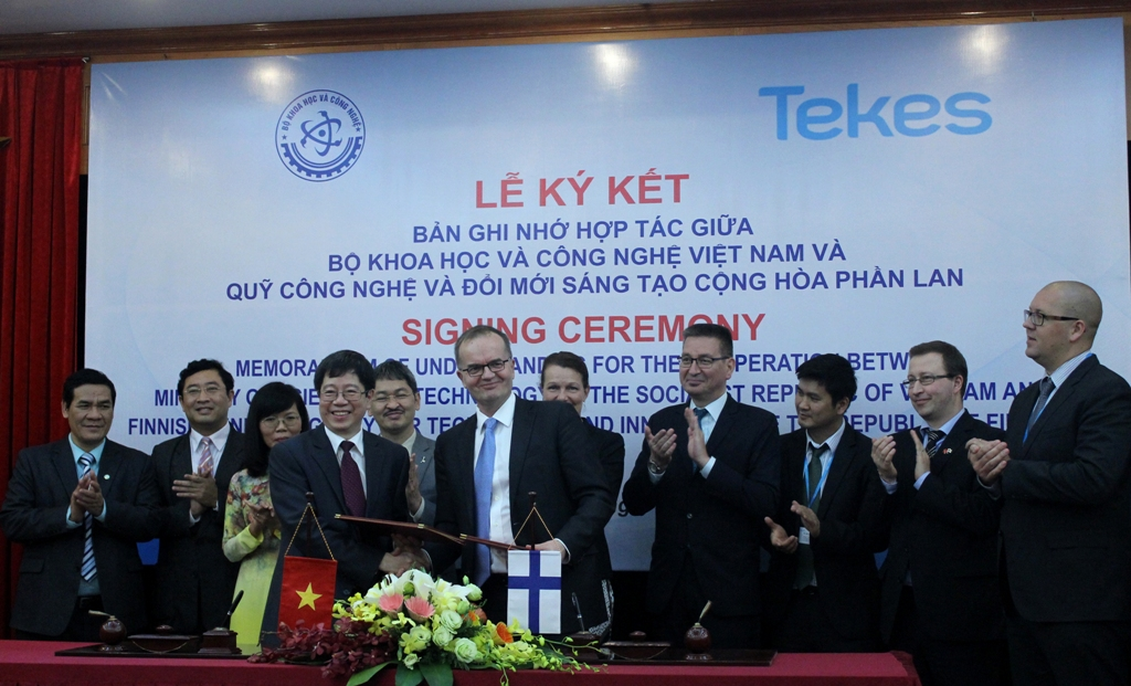vietnamese most and finnish funding agency tekes sign