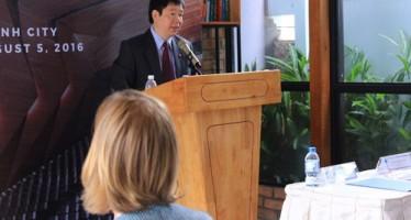 Thứ trưởng Trần Quốc Khánh phát biểu khai mạc Khóa đào tạo (Ảnh BT)