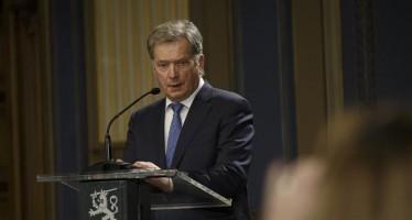 Re-elected Finnish President Sauli Niinisto