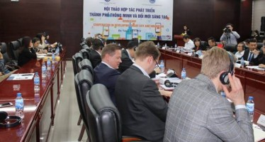 The conference on cooperation in smart city development and innovation takes place in Da Nang city on March 21  (Photo: baotainguyenmoitruong.vn)